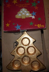 Tree-shaped golden holder for tealights from The Bay Kitchener / Waterloo Kitchener Area image 1