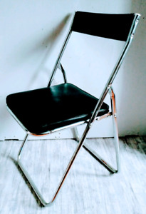 c. 1970 CHROME Folding Chair VINYL Free Delivery