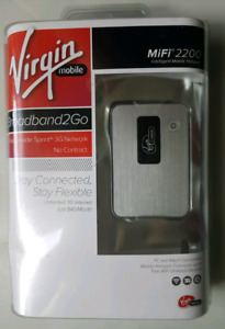 Virgin Mobile MiFi 2200 mobile internet up to 5 WiFi devices NEW