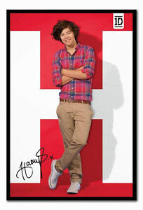 ONE-DIRECTION-HARRY-POSTER-FRAMED-1D-MUSIC-MEMORABILIA