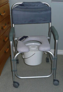 Shower COMMODE like new +CUSHION Retails for MUCH MORE