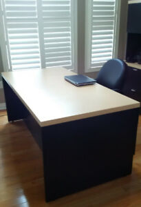 Office Desk With Hutch & Filing Cabinet For Home or Office Use