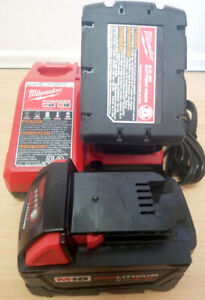 2 Milwaukee 18V Lithium XC 5.0 Batteries and Charger - Brand New