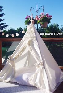 Teepee tipi princess wigwam ivory. Tender stylish. Decor Downtown-West End Greater Vancouver Area image 3