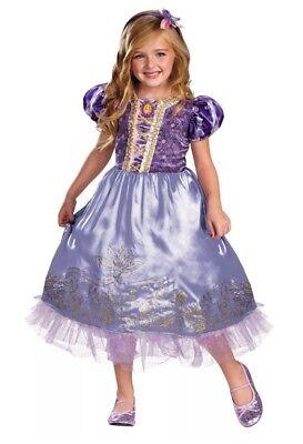 Disguise Deluxe Princess Rapunzel Toddler Child Costume Sz S 4-6X DRESS - Rapunzel Costume Toddler