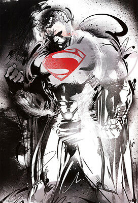 Man of Steel - Superman Red Logo Movie Poster Movie Poster Print, 24x36