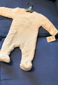 Baby grey bodysuit