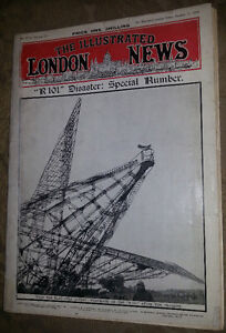 1930 R 101 AIRSHIP DISASTER THE ILLUSTRATED LONDON NEWS