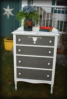 Antique 1930s Tall Chest of Drawers - Rustic/Shabby Chic