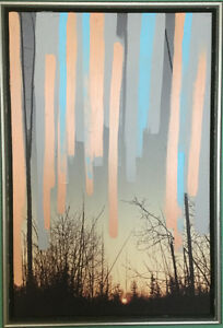 abstract upcycled framed artwork