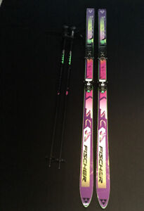 Fisher SC Downhill Skis and Poles