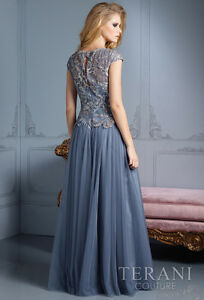 Silver/Grey Terani Evening Gown / Prom Dress London Ontario image 6