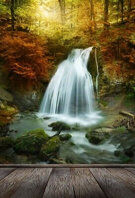 Photo Backdrop 3x5Ft Vinyl Waterfall Spring  Photography Background