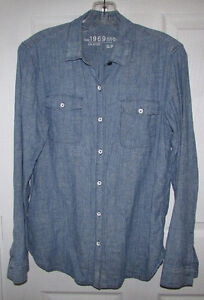 GAP Linen Cotton Jean Style Shirt - SMALL