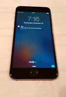 MINT iPHONE 6 PLUS - 64 GB - FACTORY UNLOCKED - WARRANTY