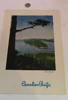 Canadian Pacific Princess Steamers Luncheon Menu
