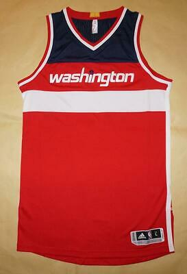 Washington Wizards NBA Adidas Men's Red Authentic Jersey - L