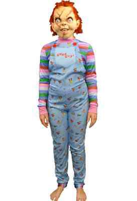 Chucky Child Costume (Good Guy Overalls Child's Play Chucky Fancy Dress Up Halloween Child)