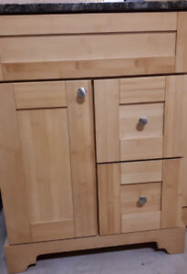 """SOLID WOOD NATURAL BAMBOO 24"""" VANITY / CABINET - SALE!"""