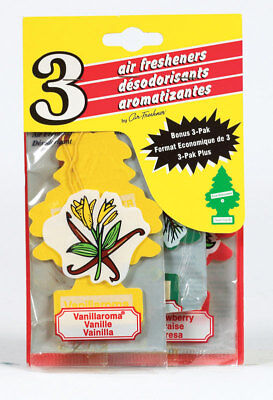 Set of 3 Little Trees Car Automotive Air Fresheners Room Office -Assorted Scents