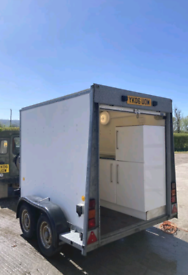Ifor Williams double axle trailer with fitted kitchen
