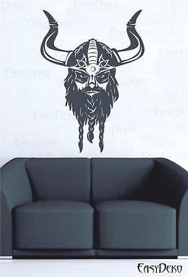 Wikinger Wandtattoo - Viking Odin Walhalla Krieger Sticker Aufkleber Decal Deko