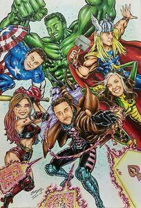 SUPERHERO  CARICATURES drawn THE MARVEL WAY: AMAZING GIFTS!!!