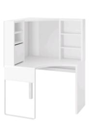 Ikea Micke Corner Workstation Desk white