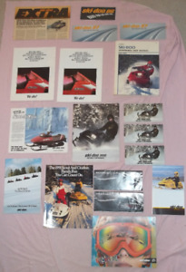 Ski Doo literature/shirts/gloves/handlebar muffs & promo items
