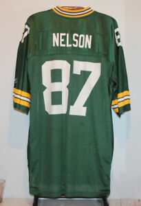 REEBOK JORDY NELSON GREEN BAY PACKERS FOOTBALL JERSEY ADULT 2XL