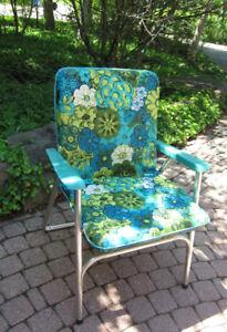 Vintage 60's Aluminum Lawn Chair