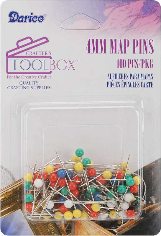 Map Pins 4mm 100/Pkg 652695740527