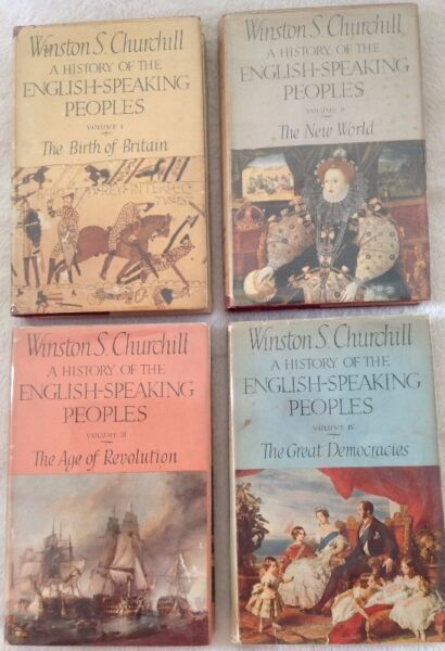 A History of the English-Speaking Peoples - Winston S Churchill - Hardcover - Full Set