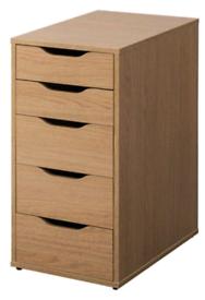 "IKEA ""Alex"" pedestal - Oak effect"