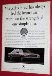 1989 MERCEDES BENZ BEST OR NOTHING QUALITY AD WITH 560 SEC RETRO