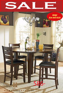 586-36RD, round formal dining table, arm chairs, meuble valeur