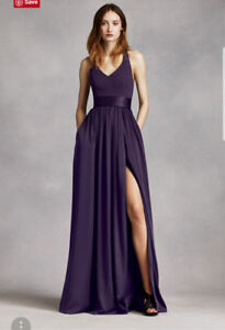 Plum Vera Wang Dress! Yours for 200 Purchased for 349 plus tax!