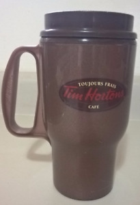 Tim Hortons Aladdin Brown Tapered Insulated 16oz Plastic Travel
