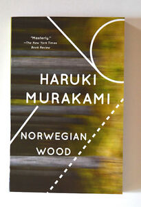 Haruki Murakami Softcover Novel by Norwegian Wood - Mint