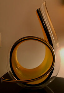 Extraordinary limited edition hand blown horn decanter