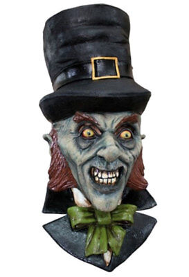 DELUXE HORROR LEPRECHAUN FULL HEAD LATEX MASK Halloween Scary Goblin Mask 26314](Leprechaun Mask)