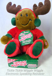 Talking and wiggly reindeer with smiley face, new, original pack
