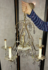 EASTER SPECIAL Chandelier 5 candle Antique from Estate $150