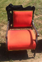 MOVING -FAINTING COUCH 3 CHAIRS ANTIQUE