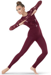 ONE PIECE patinage catsuit Robe unitard skating 10-12 ans
