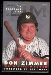 Hardcover baseball book - Don Zimmer autobiography