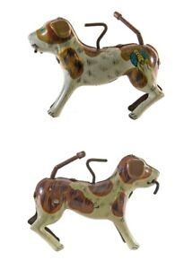 Vintage Alps tin toy-Dog with stick in his mouth