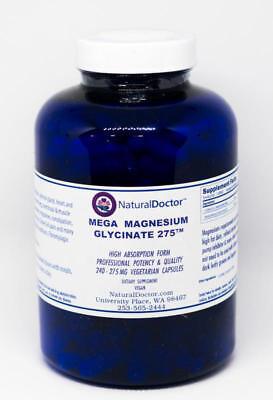 Natural Doctor - Mega Magnesium Glycinate 275, 240 Veg Capsules