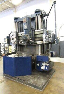 1965 56 Inch Bullard Dynatrol Boring Mill Flush Floor Design No Chuck Wrench