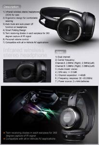 Car IR Wireless Headphones - 2 Pairs